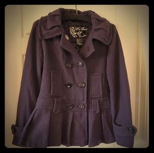 Cute dark purple peacoat